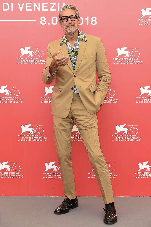 Джефф Голдблюм нафотоколле фильма The Mountain на75 Венецианском кинофестивале
