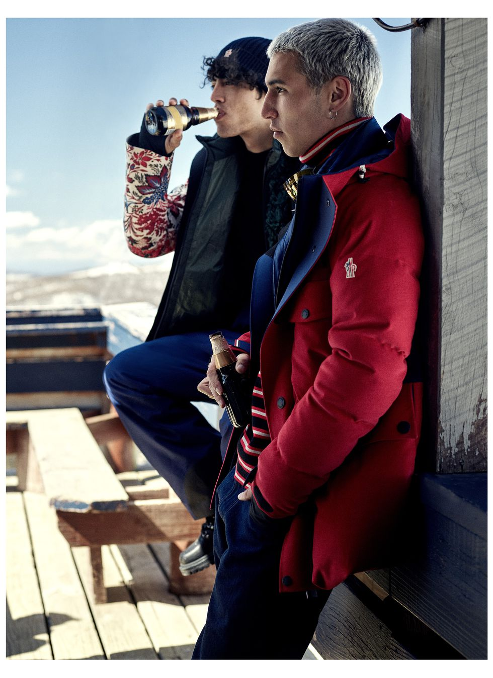 Куртка Gelt, куртка Telluride, водолазка икомбинезон, все Moncler Grenoble