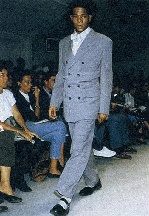 Жан-Мишель Баския напоказе Comme des Garçons весна-лето 1987