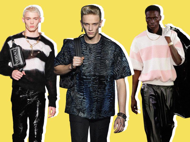 Versace pre-fall 2019, Dior Homme pre-fall 2019, Alexander Wang осень-зима 2019