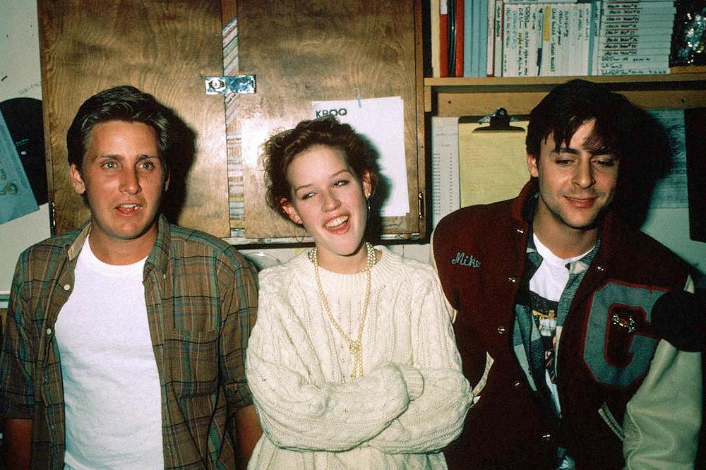 На съемках фильма «Клуб «Завтрак», 1985