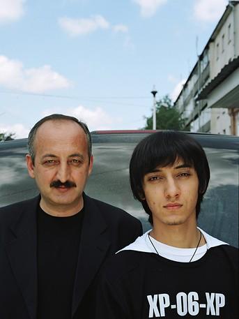 Казбек Мисиков, 45 лет. Батраз Мисиков, 17 лет