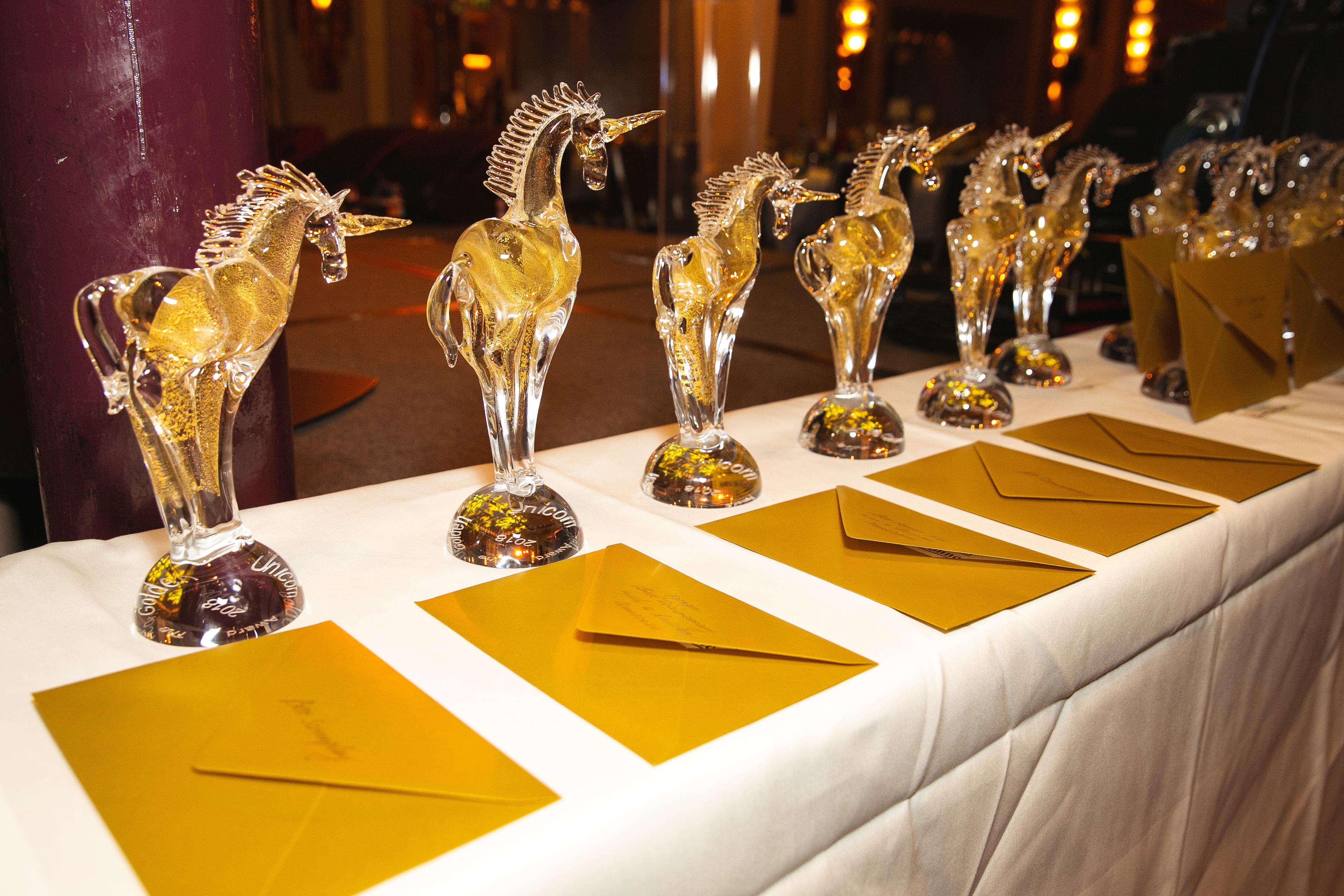 Статуэтки премии «Золотой единорог»