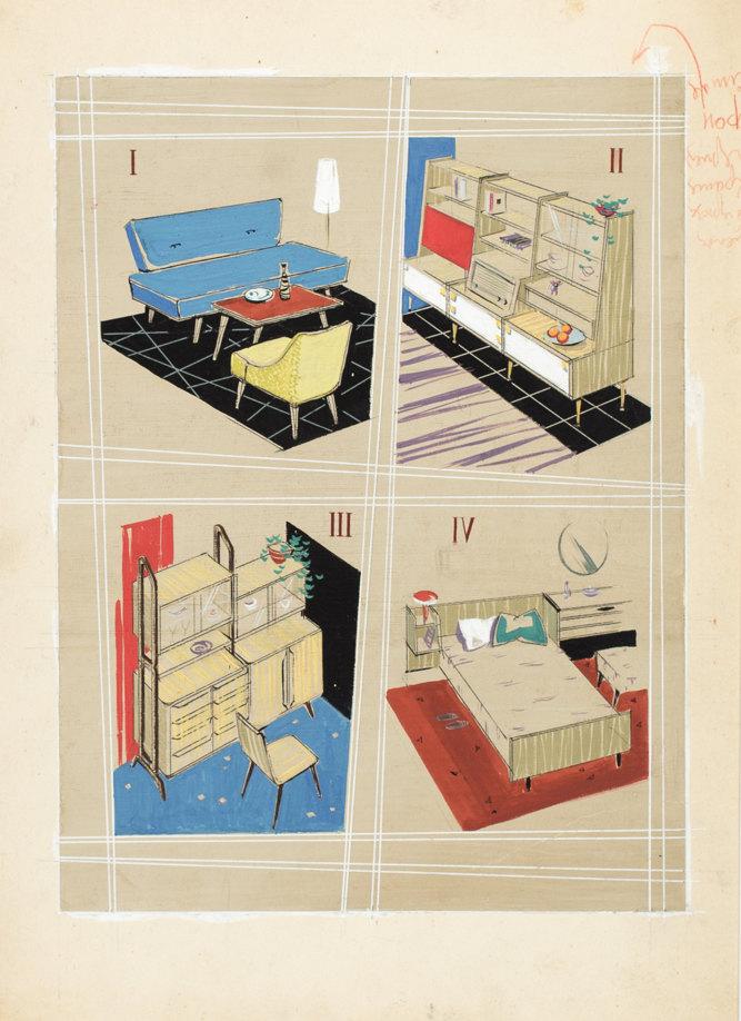 Рисунок дляжурнала Техника Молодежи N4, 1957 год; Юрий Случевский; частное собрание