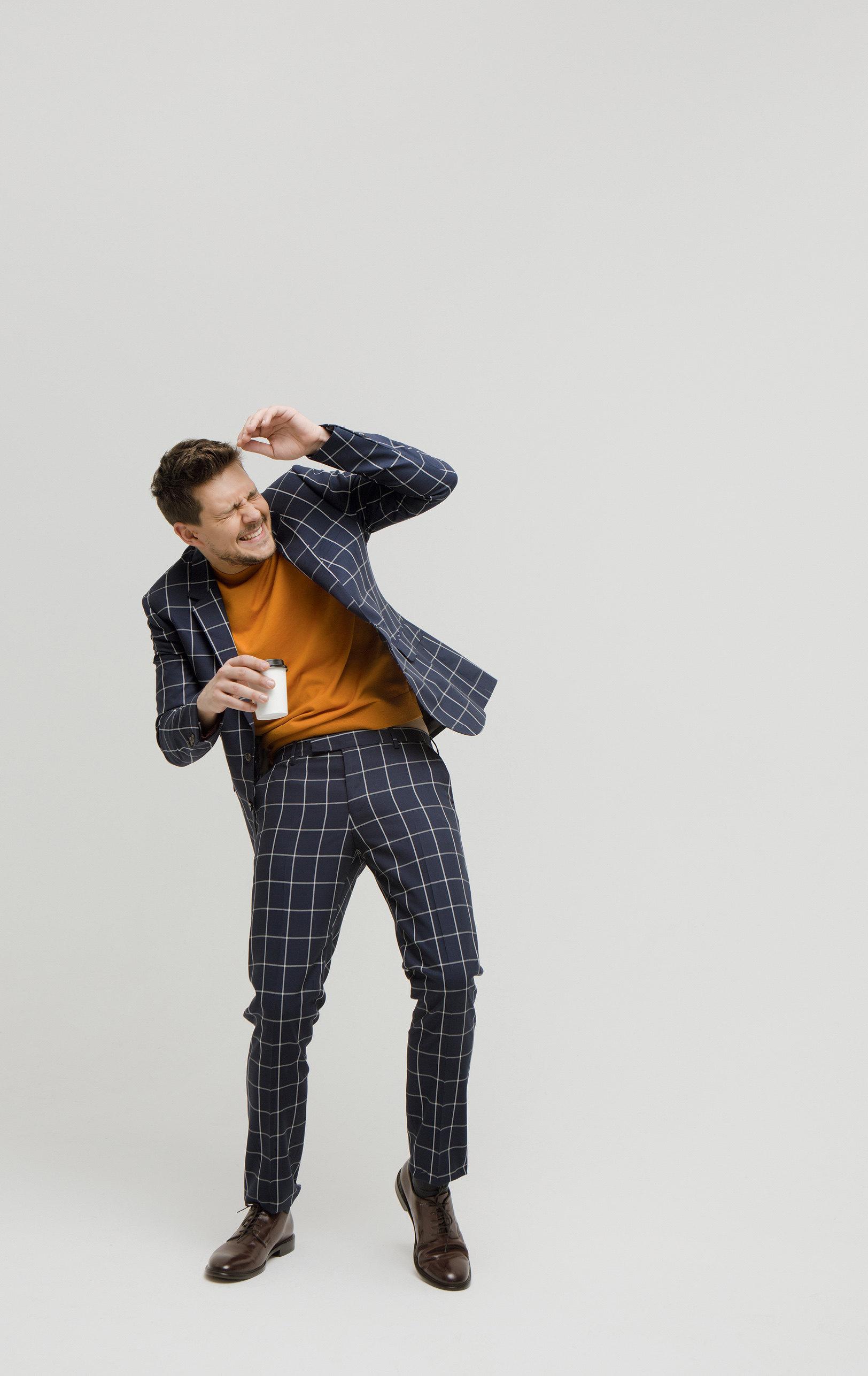 костюм, пуловер, все Paul Smith, ботинки GEOX