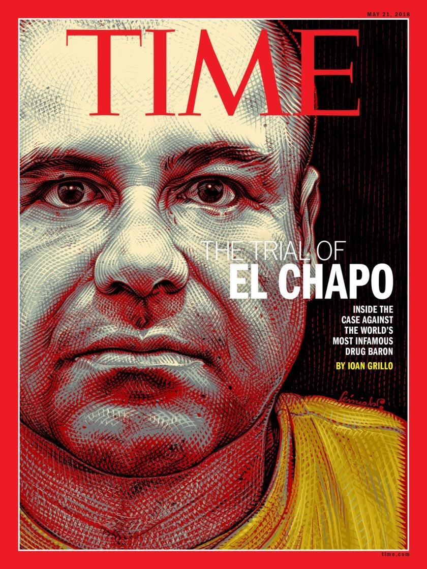 Эль Чапо наобложке журнала The Time, май 2018