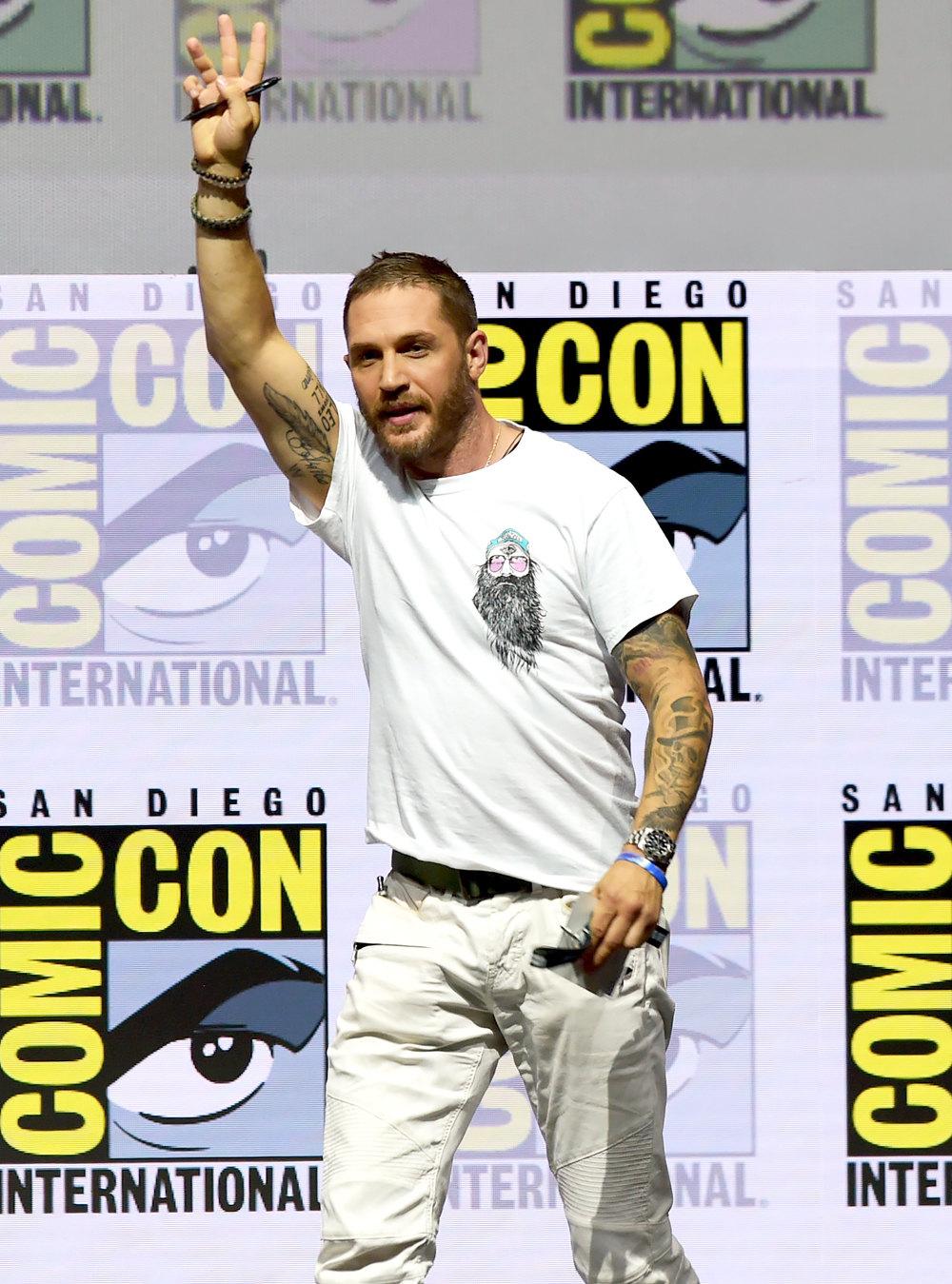 Том Харди нафестивале Comic-Con вСан-Диего, июль 2018