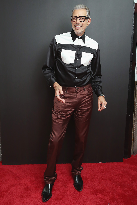 Джефф Голдблюм напоказе Calvin Klein весна-лето 2019