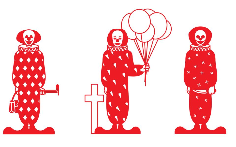 Пятиминутный путеводитель позлым клоунам