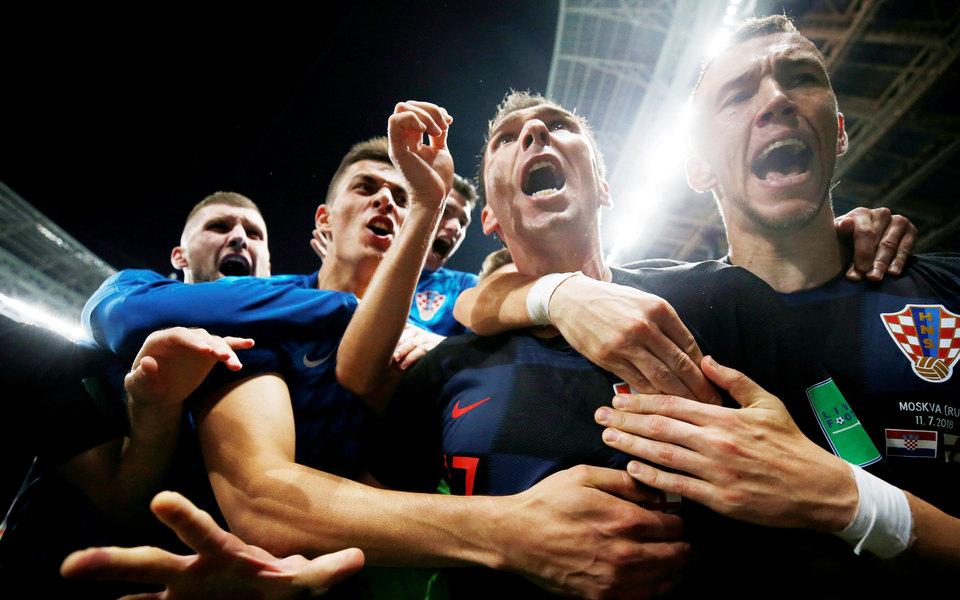 В соцсетях обсуждают победу сборной Хорватии вполуфинале ЧМ-2018