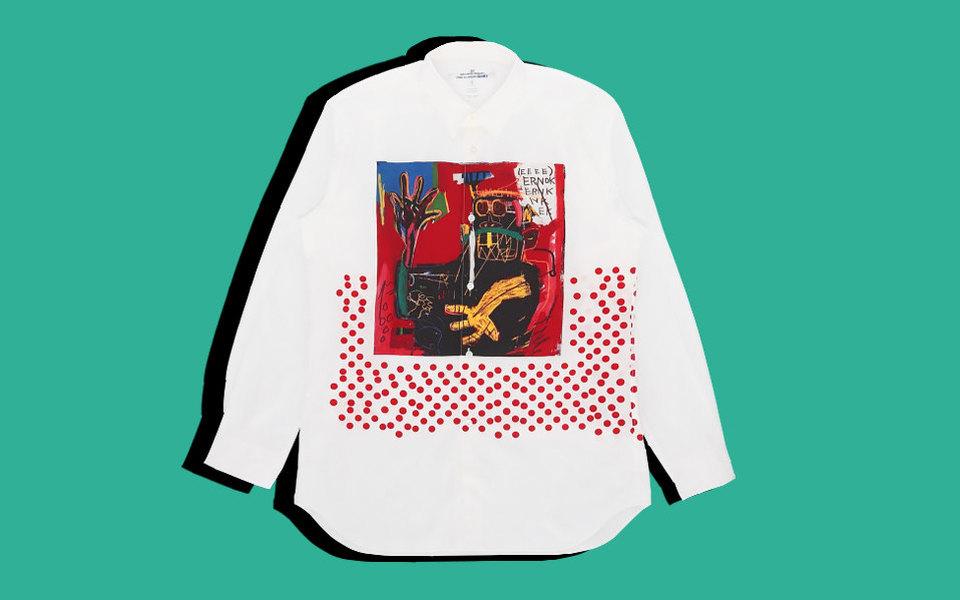 Жан-Мишель Баския вкаждый дом: коллекция Comme Des Garcons Shirt сработами художника начала продаваться