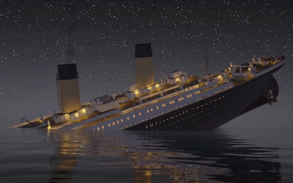 Крушение Титаника вреальном времени
