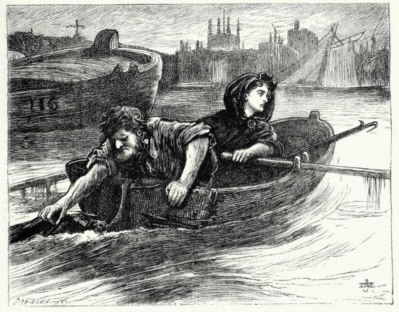 Темза, XIX век.